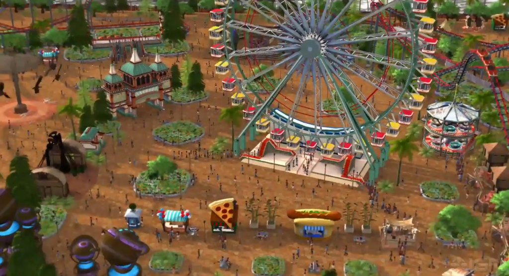 rollercoaster tycoon world screenshot gameplay