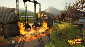 rollercoaster tycoon world screenshot fire