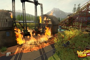 rollercoaster tycoon world screenshot fire