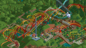 rollercoaster tycoon classic three monkey park